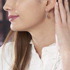 Boucles D'oreilles Pendantes Aricia Argent Blanc - Boucles d'oreilles fantaisie Femme | Histoire d'Or