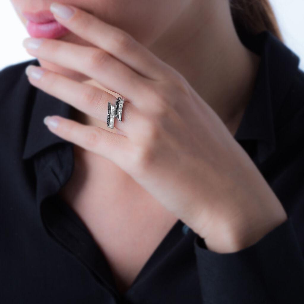 Bague Lévana Argent Blanc Oxyde De Zirconium - Bagues avec pierre Femme | Histoire d'Or