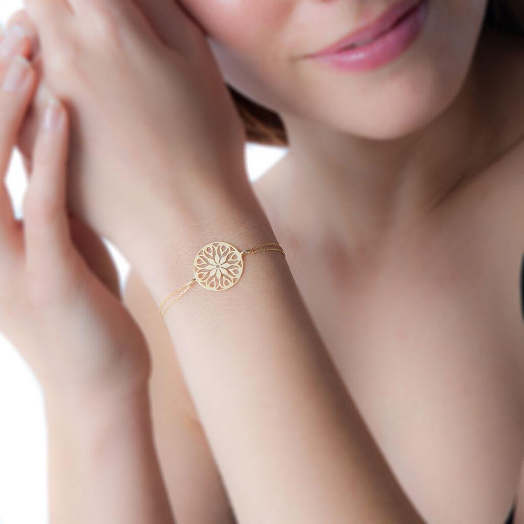 Bracelet Rosace Or Jaune - Bijoux Femme   Histoire d'Or