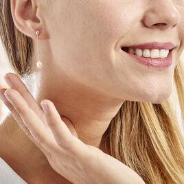 Boucles D'oreilles Pendantes Adriette Or Jaune Perle De Culture - Boucles d'oreilles pendantes Femme | Histoire d'Or