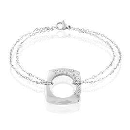 Bracelet Stelieae Acier Blanc Oxyde De Zirconium - Bracelets fantaisie Femme   Histoire d'Or