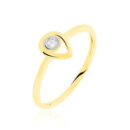 Bague Fidelia Or Jaune Diamant - Bagues avec pierre Femme | Histoire d'Or