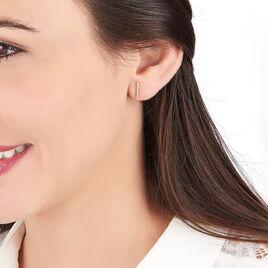 Boucles D'oreilles Pendantes Priscilla Or Jaune Oxyde De Zirconium - Boucles d'oreilles pendantes Femme | Histoire d'Or