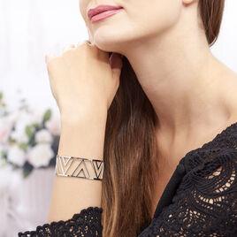 Bracelet Manchette Mathilde Acier Blanc - Bracelets fantaisie Femme | Histoire d'Or