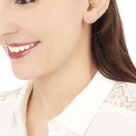 Boucles D'oreilles Puces Irvinia Or Rose - Clous d'oreilles Femme | Histoire d'Or