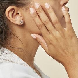 Boucles D'oreilles Puces Annea Argent Blanc Oxyde De Zirconium - Boucles d'oreilles fantaisie Femme | Histoire d'Or