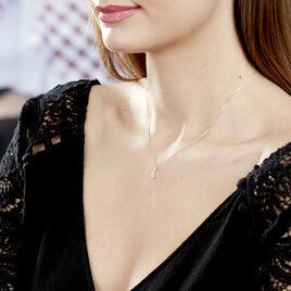 Collier Domitia Or Blanc Diamant - Bijoux Femme   Histoire d'Or