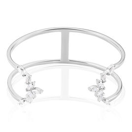 Bracelet Jonc Mahely Argent Blanc Oxyde De Zirconium - Bracelets joncs Femme | Histoire d'Or