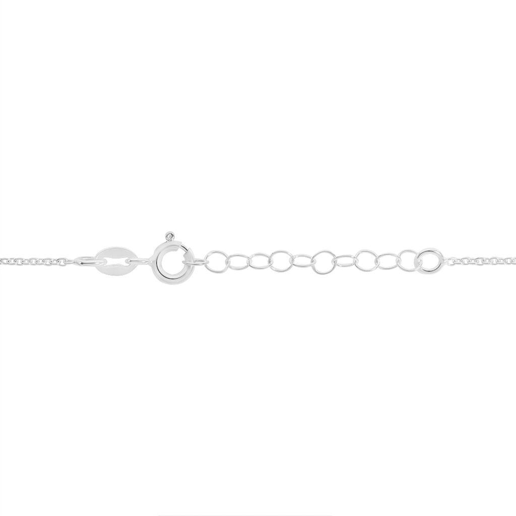 Collier Joya Argent Blanc - Colliers Coeur Femme   Histoire d'Or