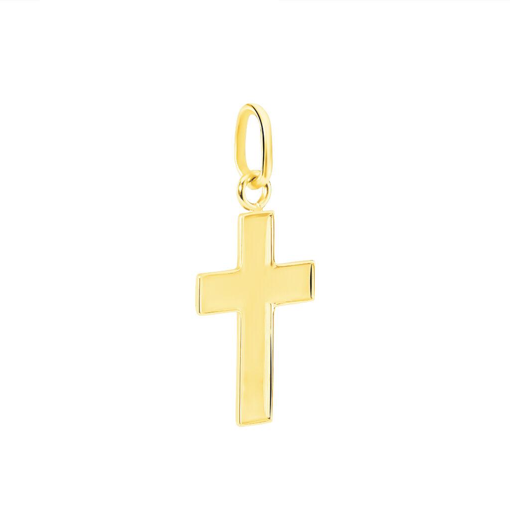 Pendentif Damian Croix Or Jaune - Pendentifs Croix Famille   Histoire d'Or