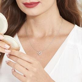 Collier Guilia Argent Blanc Oxyde De Zirconium - Colliers Coeur Femme | Histoire d'Or