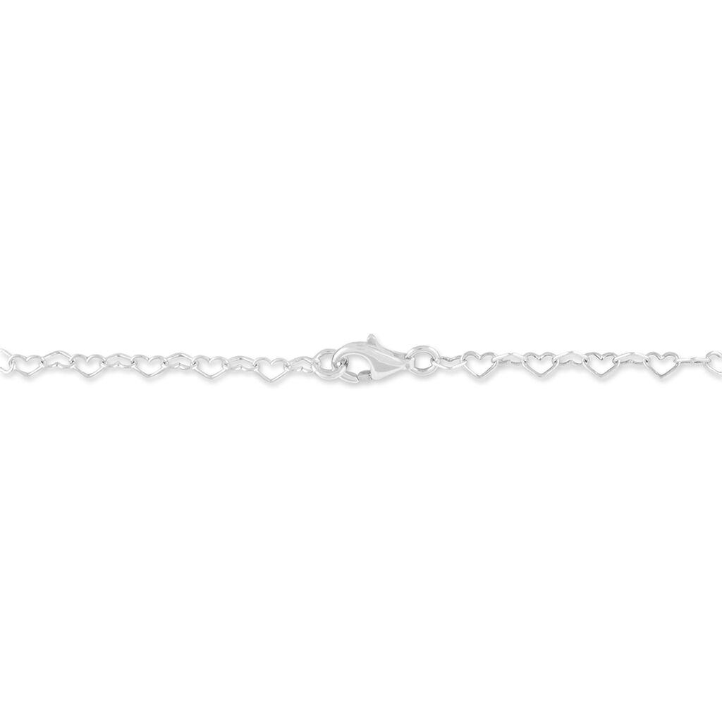 Bracelet Eve-liseae Argent Blanc Ambre - Bracelets Coeur Femme   Histoire d'Or