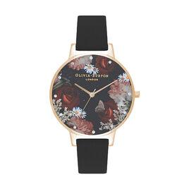 Montre Olivia Burton Winter Blooms Noir - Montres Femme | Histoire d'Or