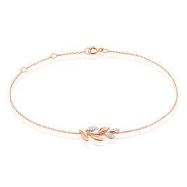 Bracelet Emelyne Or Rose Diamant - Bijoux Femme | Histoire d'Or