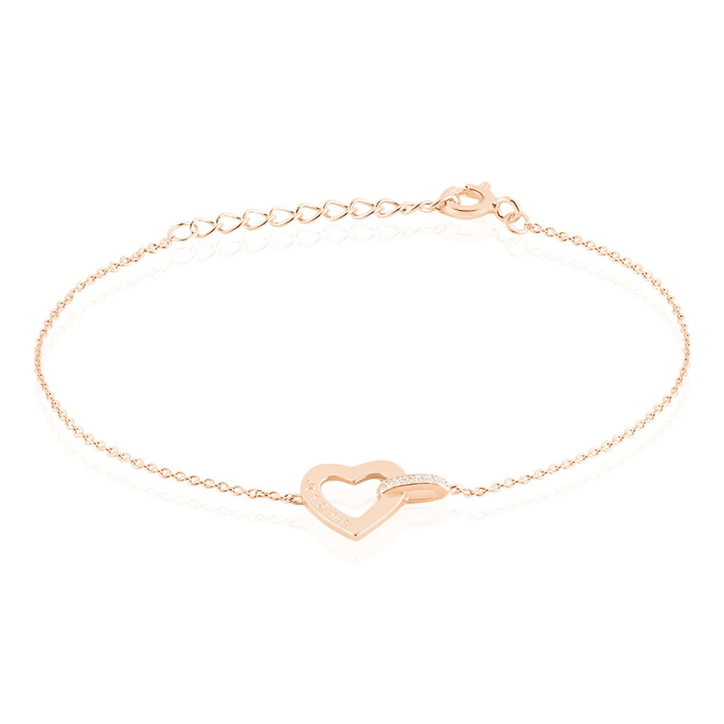 Bracelet Elanda Argent Rose Oxyde De Zirconium - Bracelets Coeur Femme | Histoire d'Or