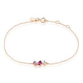 Bracelet Raika Or Rose Amethyste Et Rhodolite Et Topaze - Bijoux Femme | Histoire d'Or