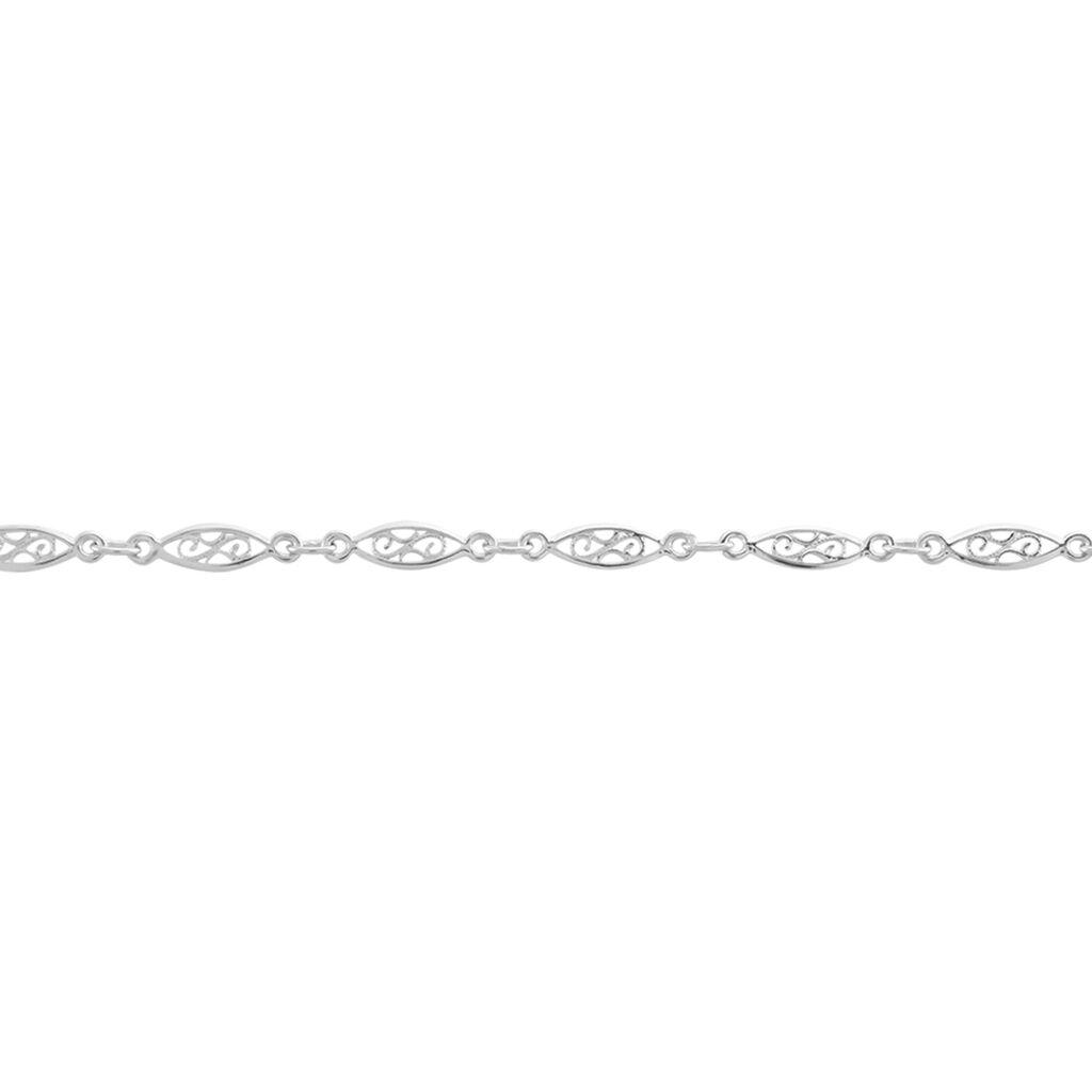 Bracelet Clemie Maille Filigrane Argent Blanc - Bracelets chaîne Femme | Histoire d'Or