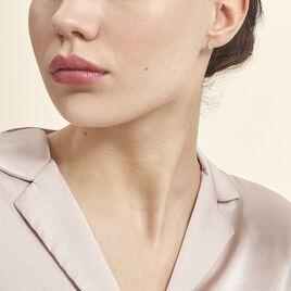 Boucles D'oreilles Puces Bartolomea Feuilles Or Jaune - Boucles d'Oreilles Plume Femme | Histoire d'Or