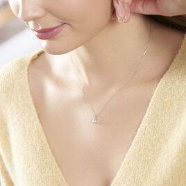 Collier Cyprille Or Blanc Topaze Et Oxyde De Zirconium - Bijoux Femme | Histoire d'Or
