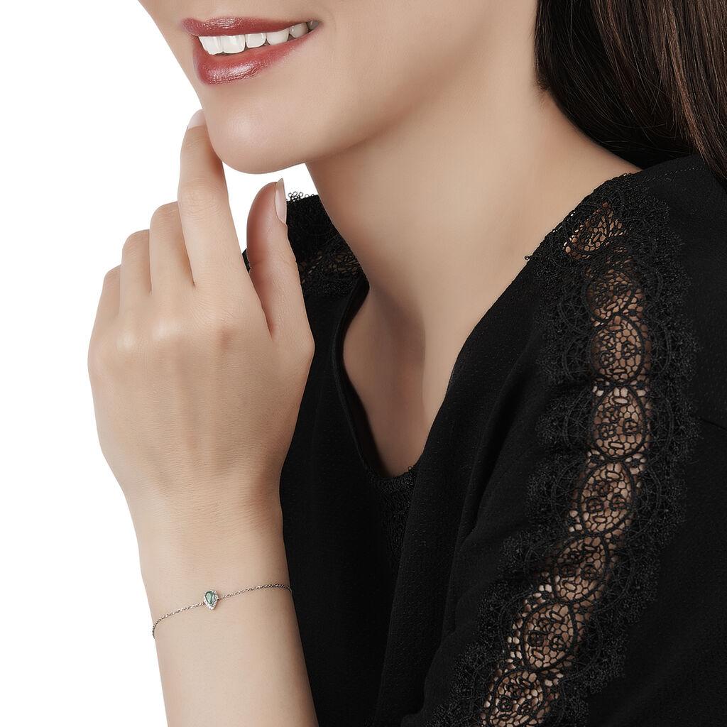 Bracelet Juliettina Or Blanc Emeraude Et Diamant - Bijoux Femme | Histoire d'Or