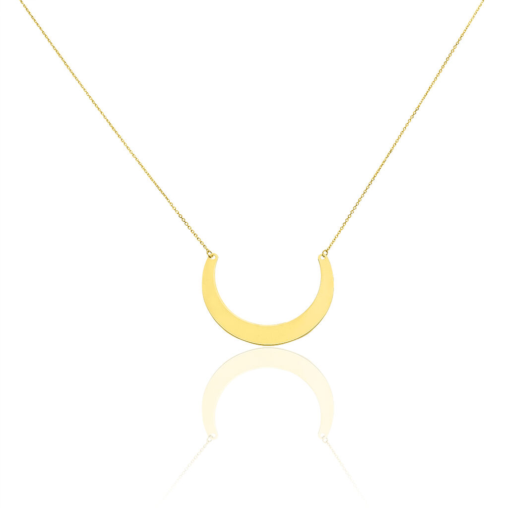 Collier Solaire Or Jaune - Colliers Lune Femme   Histoire d'Or