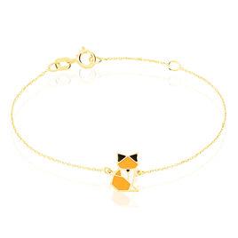 Bracelet Orelia Renard Or Jaune - Bracelets Naissance Enfant   Histoire d'Or