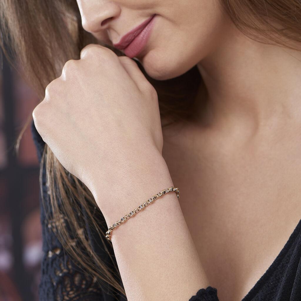 Bracelet Fideline Or Bicolore - Bracelets chaîne Femme   Histoire d'Or