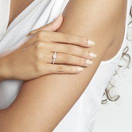 Solitaire Dayna Or Blanc Oxydes De Zirconium - Bagues solitaires Femme   Histoire d'Or
