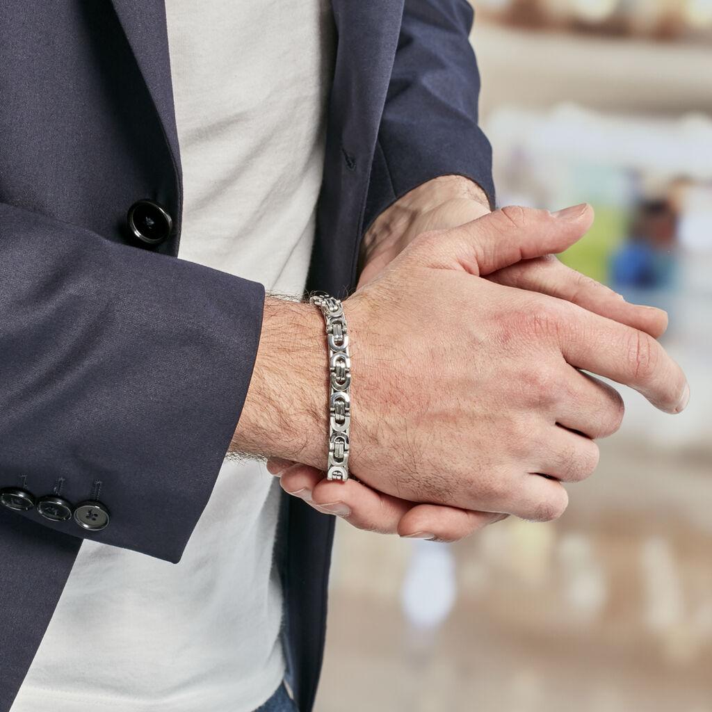 Bracelet Ignacio Acier Blanc - Bracelets fantaisie Homme | Histoire d'Or