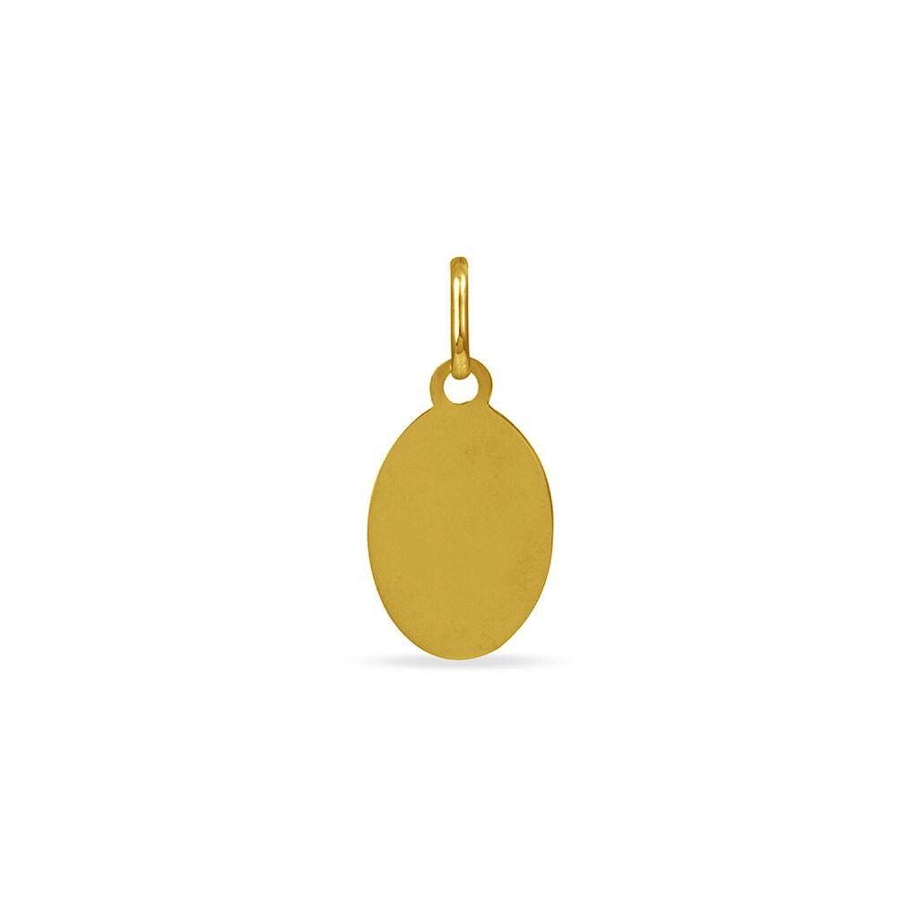 Pendentif Vierge Ovale Or Jaune - Bijoux Vierge Unisexe   Histoire d'Or
