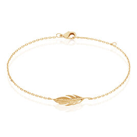 Bracelet Plaque Or Hanae Plume - Bracelets Plume Femme   Histoire d'Or