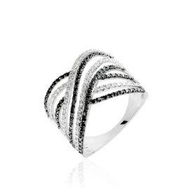 Bague Roselene Or Blanc Diamant - Bagues avec pierre Femme   Histoire d'Or