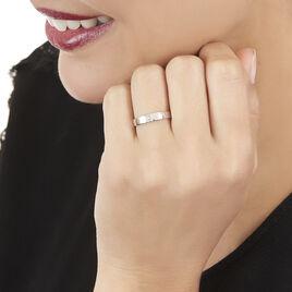 Bague Soha Or Blanc Diamant - Bagues avec pierre Femme   Histoire d'Or