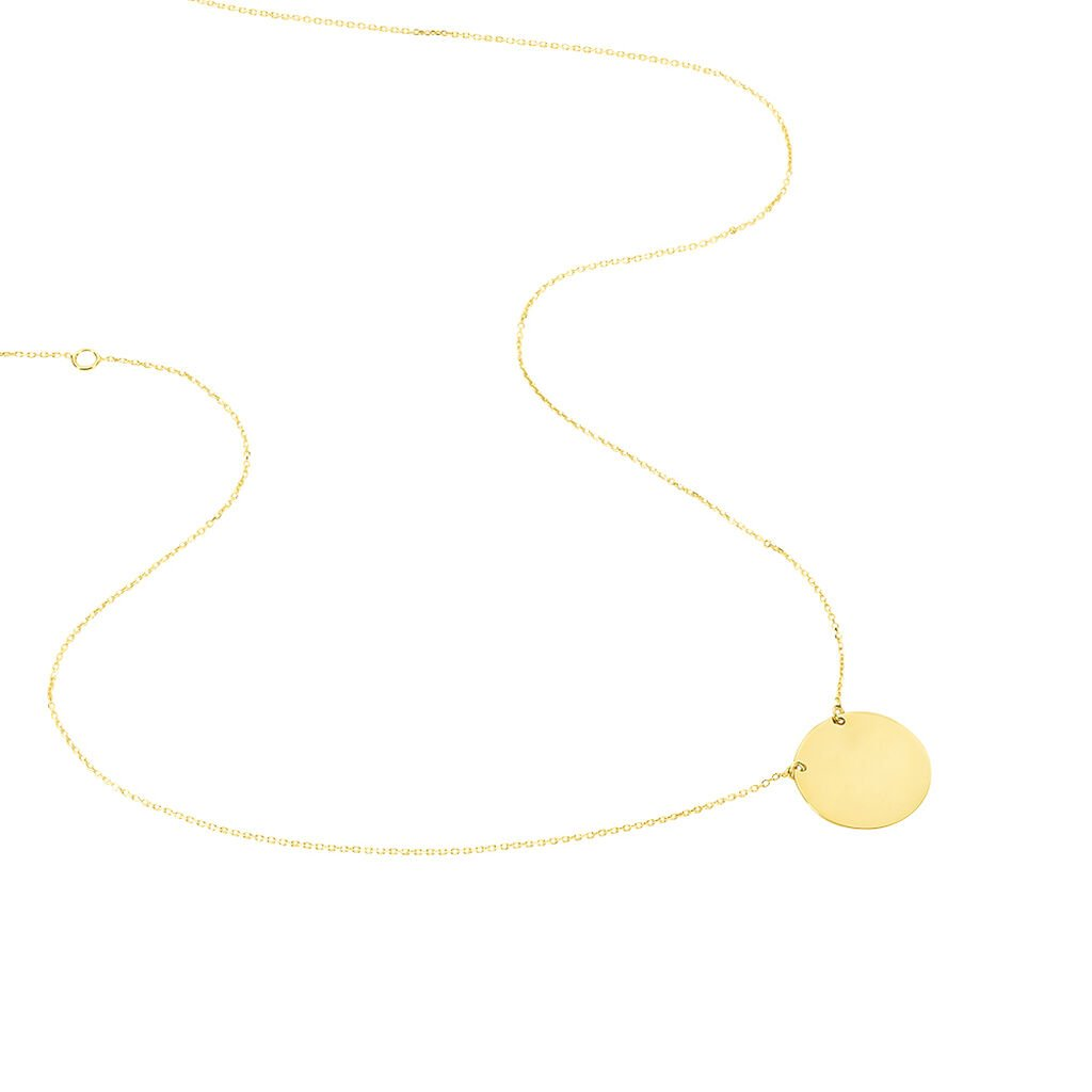 Collier Helenia Pastille Gravable Or Jaune - Colliers Naissance Enfant | Histoire d'Or