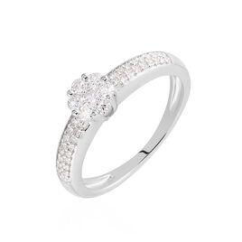 Bague Praya Or Blanc Diamant - Bagues avec pierre Femme | Histoire d'Or