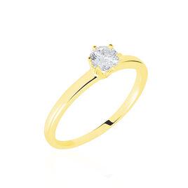 Bague Solitaire Natalia Or Jaune Diamant Synthetique - Bagues avec pierre Femme   Histoire d'Or