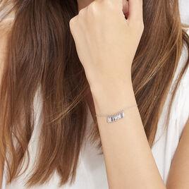 Bracelet Polyna Argent Blanc - Bracelets fantaisie Femme   Histoire d'Or