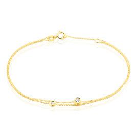 Bracelet Virguinia Or Jaune Oxyde De Zirconium - Bijoux Femme | Histoire d'Or