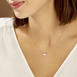 Collier Alois Argent Blanc Oxyde De Zirconium - Colliers Coeur Femme | Histoire d'Or