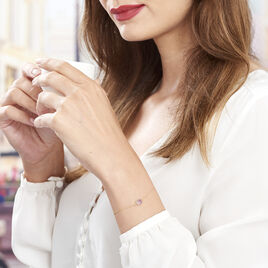 Bracelet Arenale Or Jaune Amethyste - Bijoux Femme | Histoire d'Or