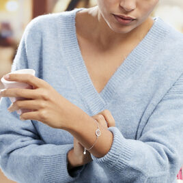 Bracelet Afaf Argent Blanc - Bracelets Arbre de vie Femme | Histoire d'Or