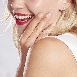 Boucles D'oreilles Puces Auxana Argent Blanc Oxyde De Zirconium - Boucles d'oreilles fantaisie Femme   Histoire d'Or