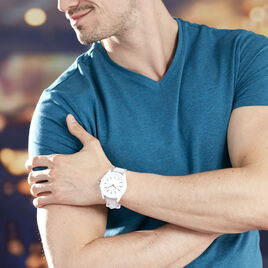 Montre Armani Exchange Drexler Blanc - Montres Homme | Histoire d'Or