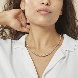 Collier Ciska Argent Blanc - Bijoux Femme | Histoire d'Or