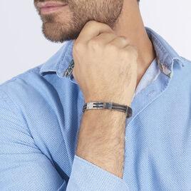 Bracelet Sawssan Or Acier Bicolore - Bijoux Homme | Histoire d'Or