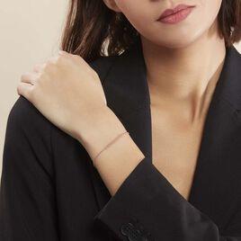 Bracelet Capucine Argent Rose - Bracelets fantaisie Femme | Histoire d'Or