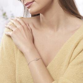 Bracelet Akiko Argent Blanc Perle De Culture Et Oxyde De Zirconium - Bracelets fantaisie Femme | Histoire d'Or