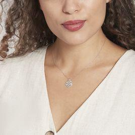 Pendentif Mayliss Argent Blanc - Pendentifs Coeur Femme   Histoire d'Or