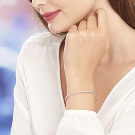 Bracelet Jonc Gania Argent Blanc - Bracelets fantaisie Femme   Histoire d'Or