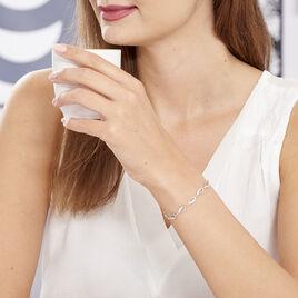 Bracelet Tulin Argent Blanc Oxyde De Zirconium - Bracelets Infini Femme | Histoire d'Or